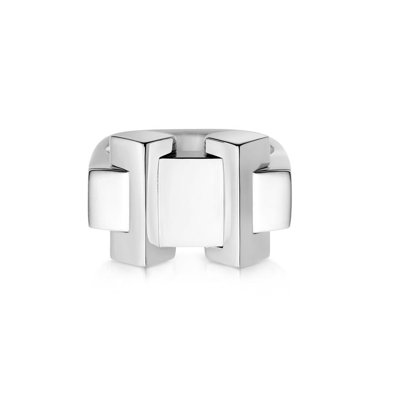 Links of London Brutalist Silver Block Ring 5245.0350