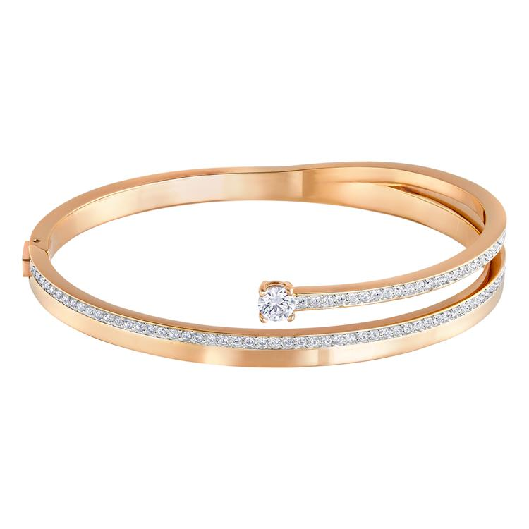 Swarovski Fresh Rose Gold Bangle Crystal Pavé