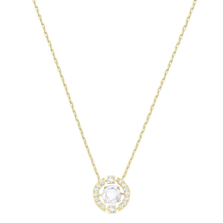 Swarovski Sparkling Dance Necklace Gold 5284186
