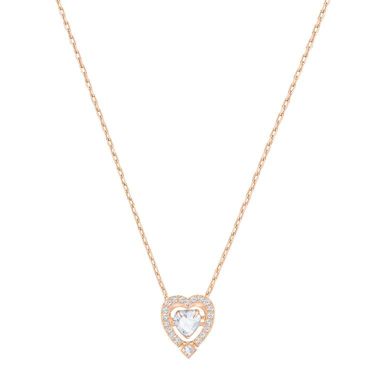Swarovski Sparkling Heart Necklace Rose Gold 5284188