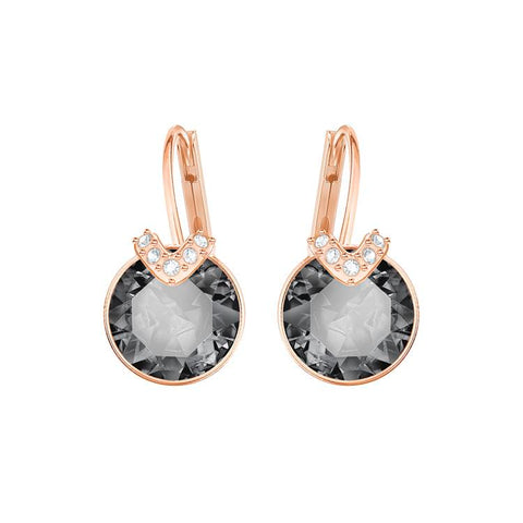 Swarovski Bella V Grey Rose Gold Earrings 5299317