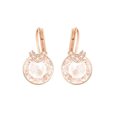 Swarovski Bella V Pink Rose Gold Earrings 5299318