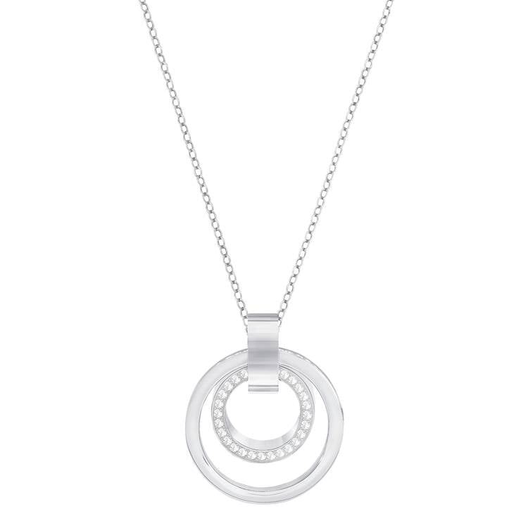 Swarovski Hollow Pendant Interlinked Loop Necklace