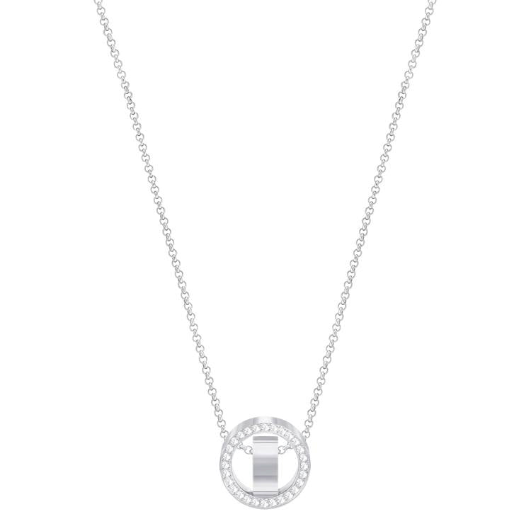 Swarovski Hollow Pendant Shimmer Necklace