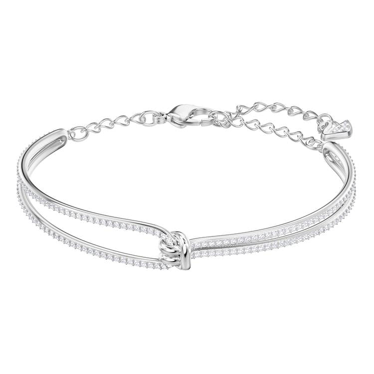 Swarovski Lifelong Knot Silver Bangle 5368552