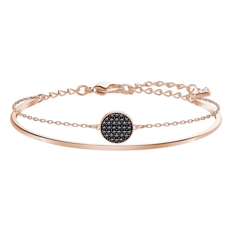 Swarovski Ginger Rose Gold & Gray Bangle 5389046
