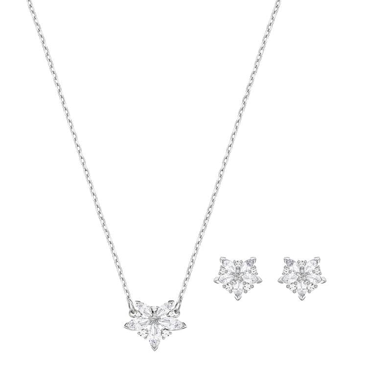 Swarovski Lady Flower Necklace Earrings Set 5408432