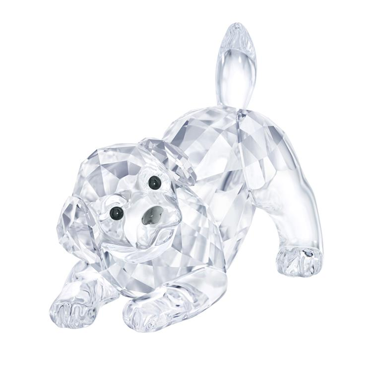 Swarovski Labrador Puppy playing 5408608