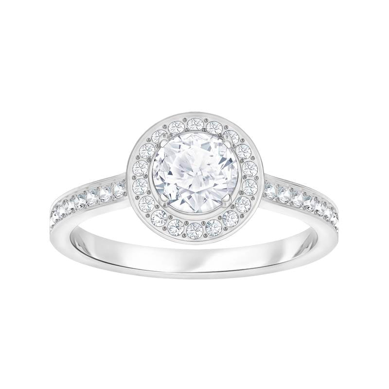 Swarovski Attract Light White Round Halo Ring