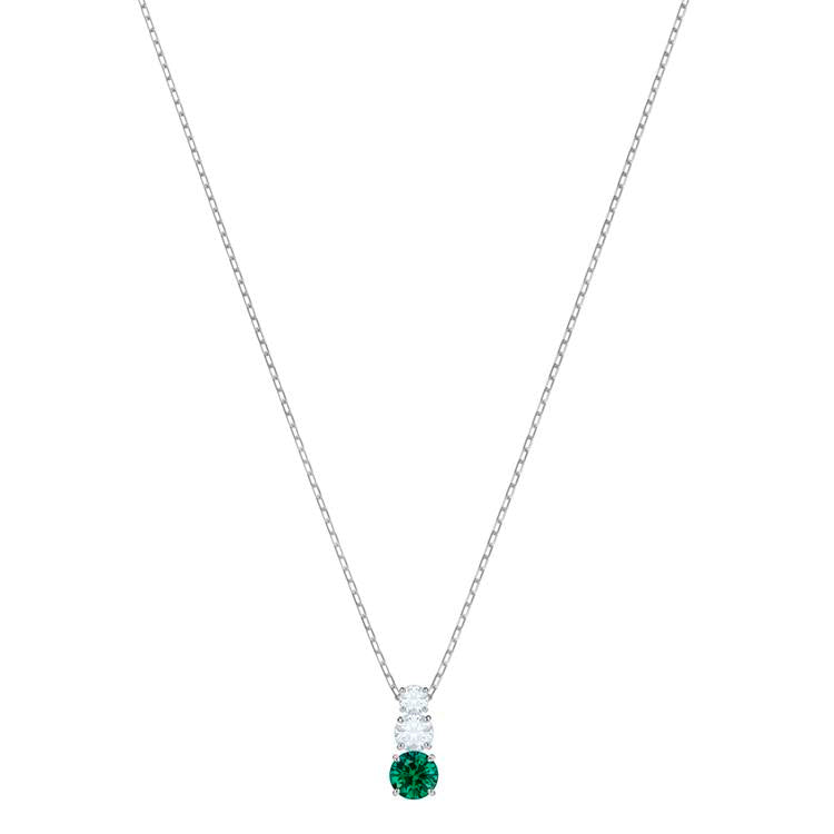 Swarovski Attract Trilogy Necklace Green 5416153