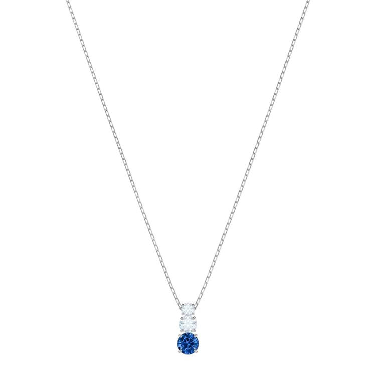 Swarovski Attract Trilogy Necklace Blue 5416156