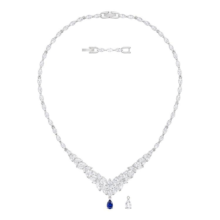 Swarovski Louison Necklace Blu Detail 5419234
