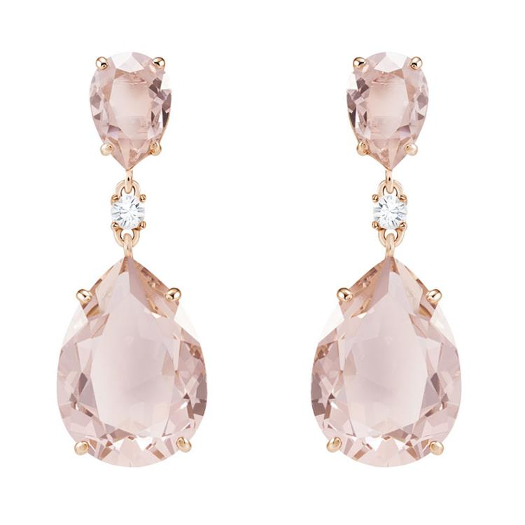 Swarovski Vintage Pink Rose Gold Earrings 5424361