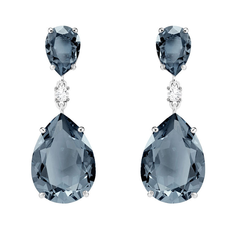 Swarovski Vintage Drop Blue Crystal Earrings 5424362