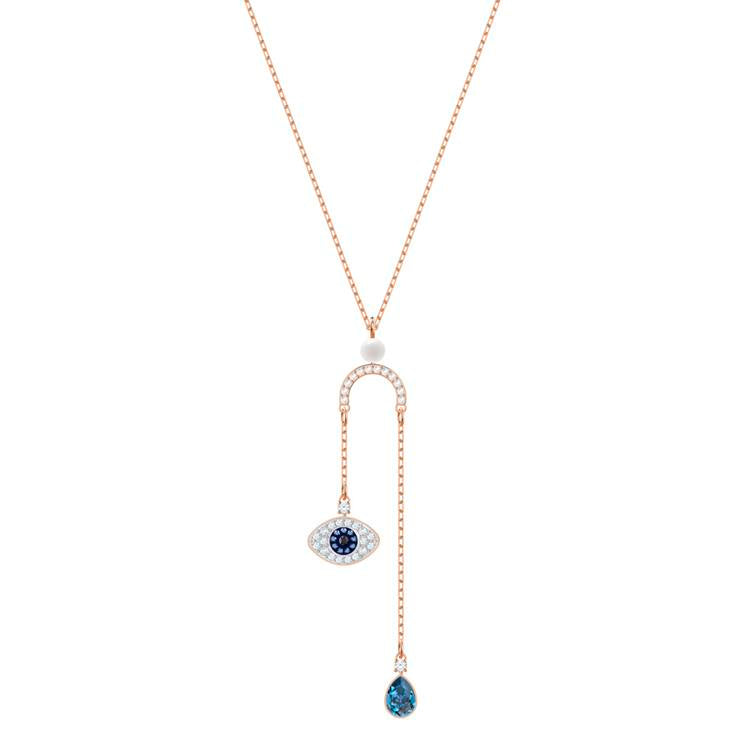 Swarovski Symbolic Evil Eye Y Necklace 5425861