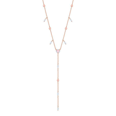 Swarovski One Collection Y Long Necklace Rose Gold Plated