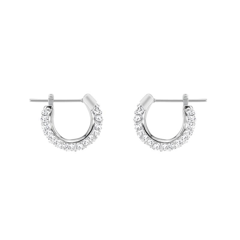 Swarovski Stone Silver Small Hoop Earrings 5446004