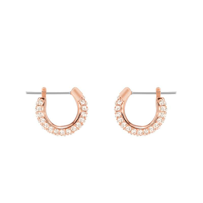 Swarovski Stone Small Hoop Rose Gold Earrings 5446008