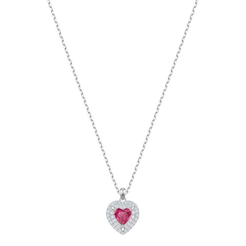 Swarovski One Pendant Red Heart Necklace 5446301