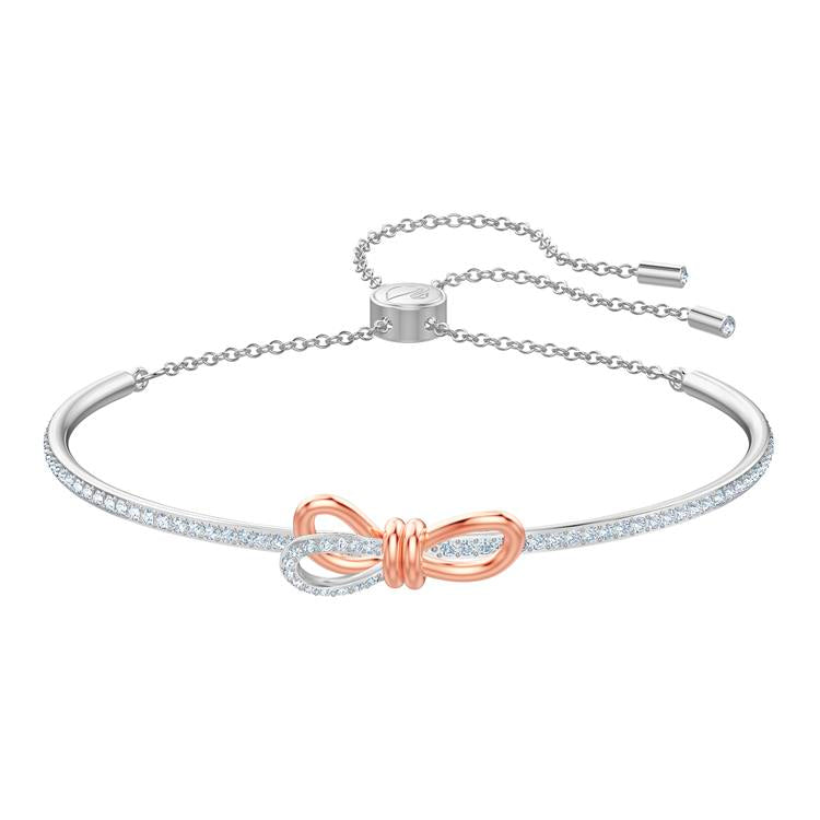 Swarovski Lifelong Bow Silver Bangle 5447079