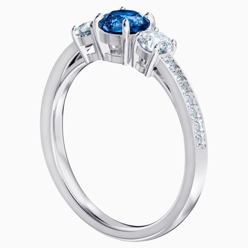 Swarovski Attract Trilogy Blue Channel Set Ring