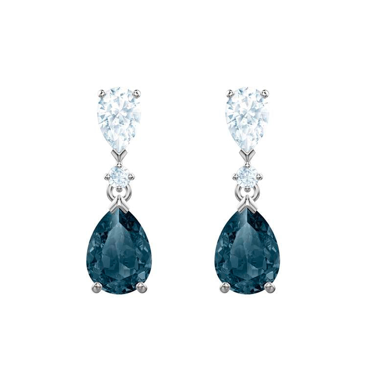 Swarovski Vintage Blue Tear Drop Earrings 5452579