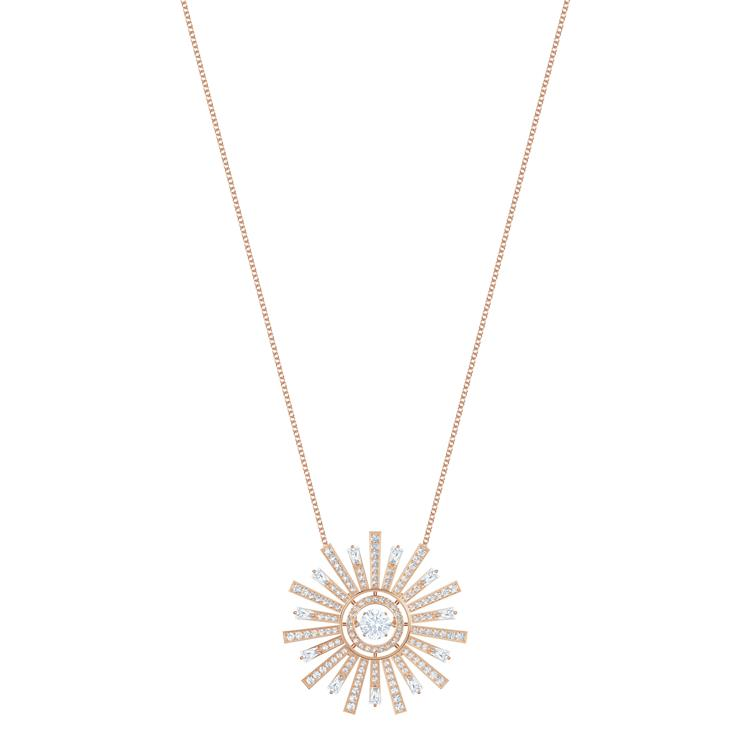 Swarovski Sunshine Sun Rose Gold Necklace 5459593