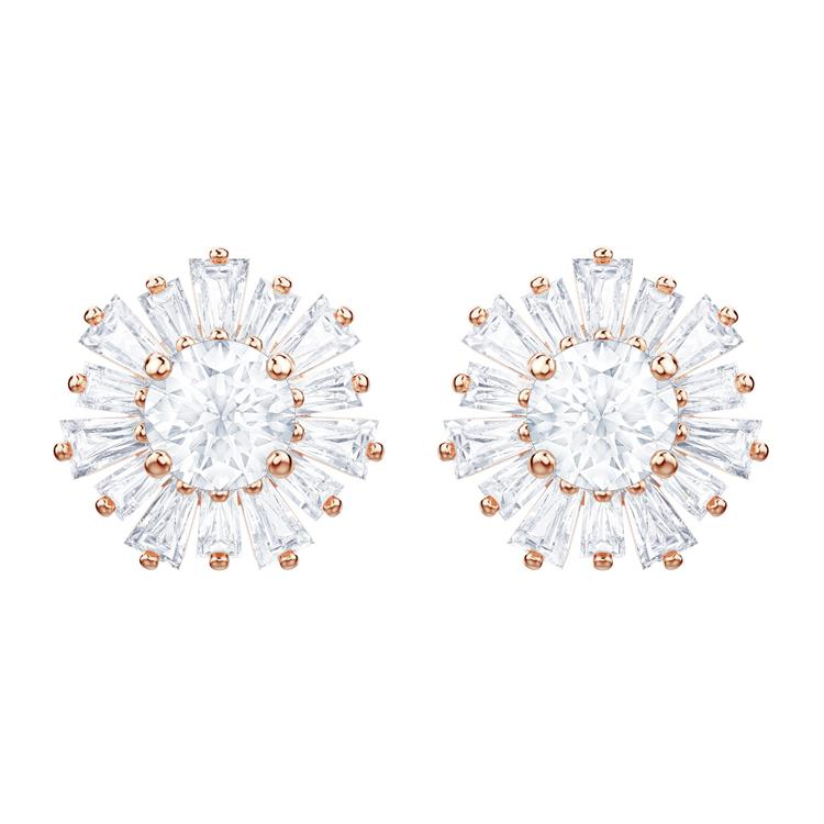 Swarovski Sunshine Rose Gold Stud Earrings 5459597