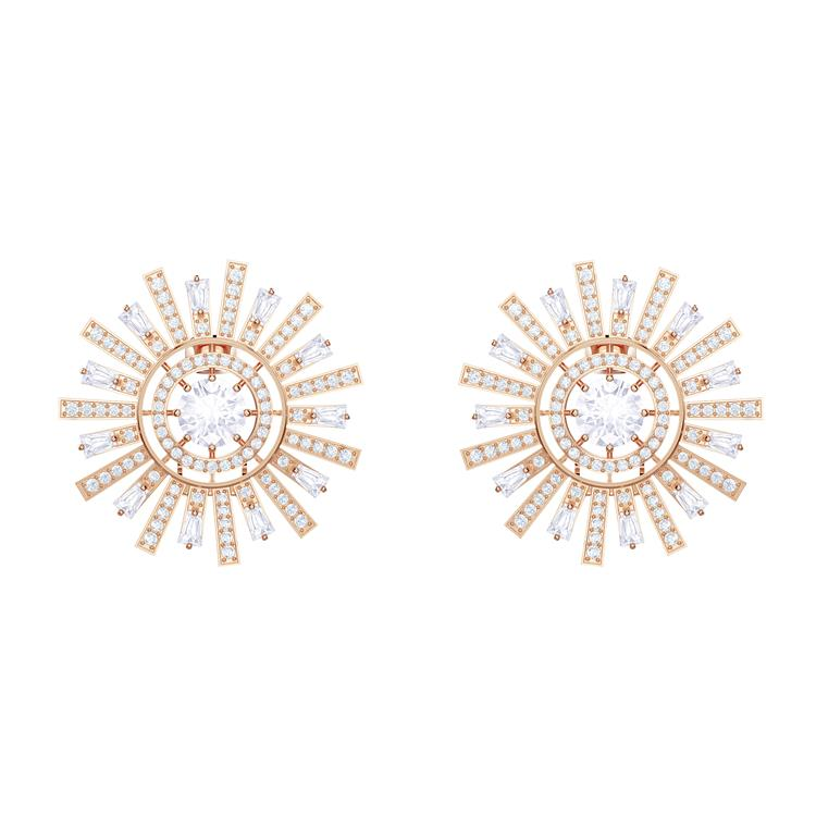 Swarovski Sunshine Clip Rose Gold Earrings 5464833
