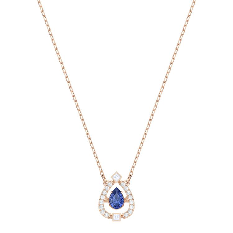 Swarovski Sparkling Dance Pear Necklace Blue 5465281