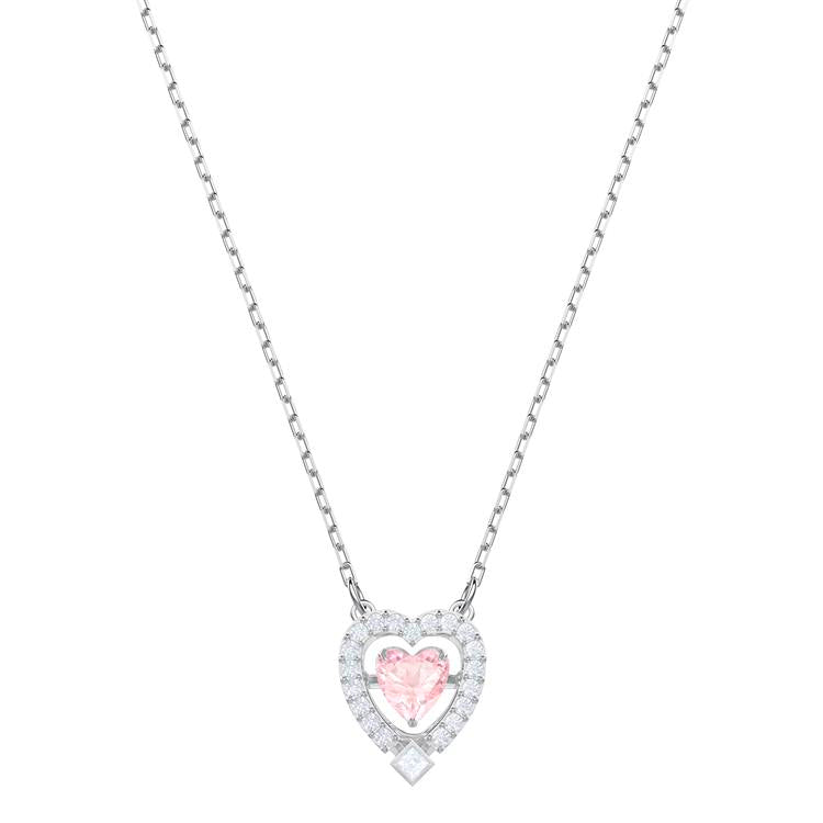 Swarovski Sparkling Pink Heart Necklace 5465284