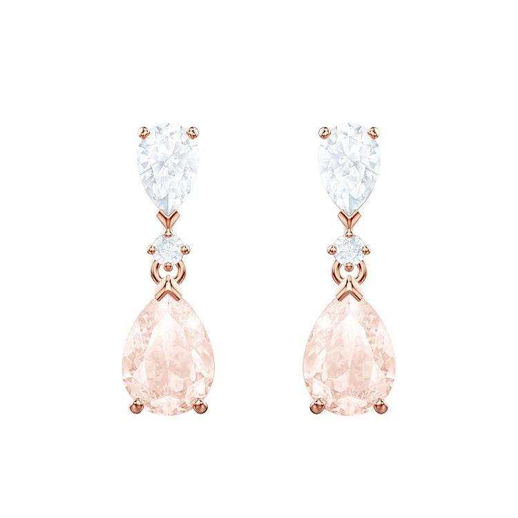 Swarovski Vintage Rose Tear Drop Earrings 5466888
