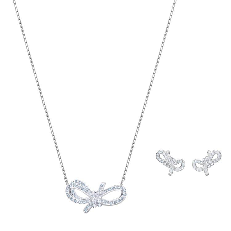 Swarovski Lifelong Bow Necklace Earrings 5470594