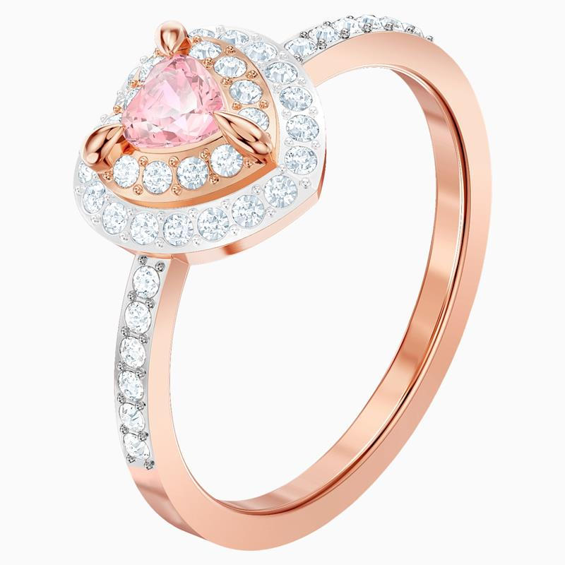 Swarovski One Pink Heart Mixed-Plating Ring