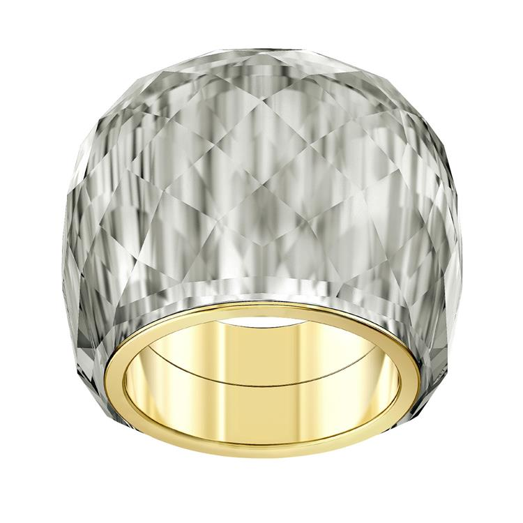 Swarovski Nirvana Grey Crystal Gold Plated Ring