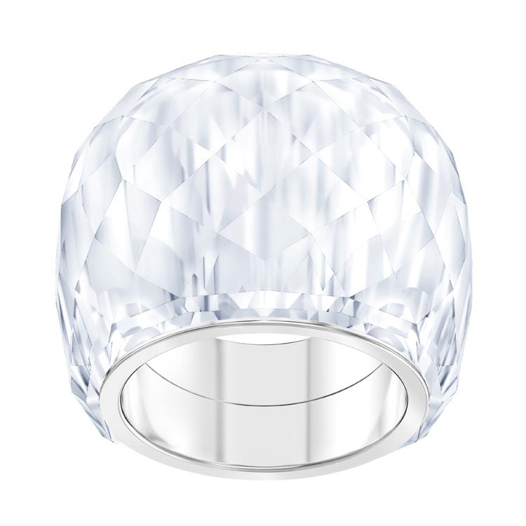 Swarovski Nirvana White Crystal Stainless Steel Ring