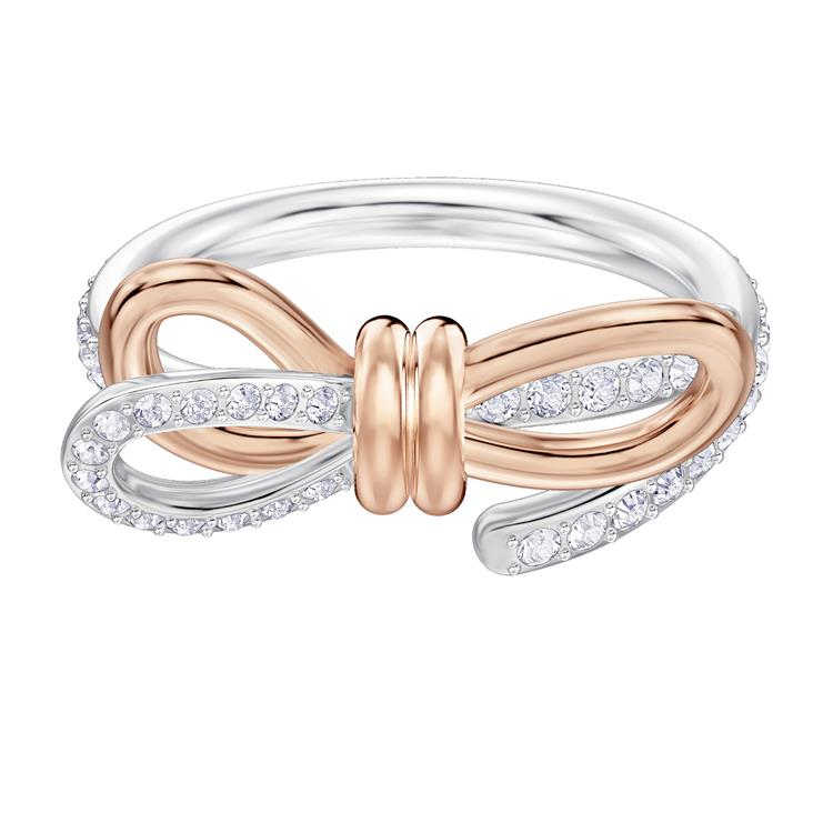 Swarovski Lifelong Bow Rose Gold & Silver Ring