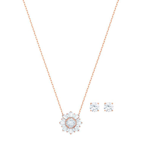 Swarovski Sunshine White Necklace Earrings 5480468