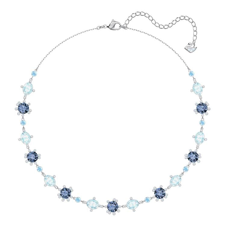 Swarovski Olive Necklace Blue Silver 5480481