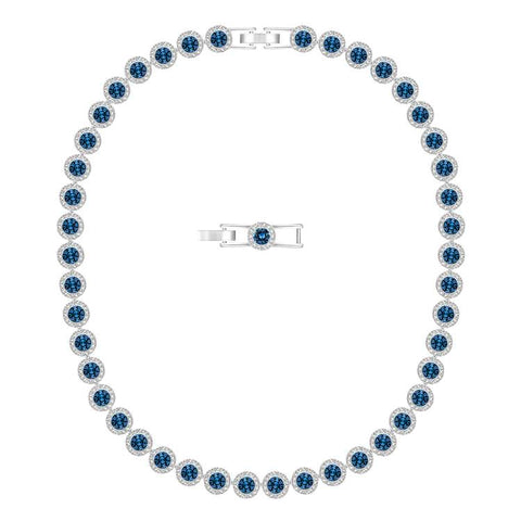 Swarovski Angelic Necklace Silver & Blue 5482698