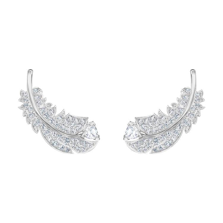 Swarovski Nice Feather Stud Earrings 5482912