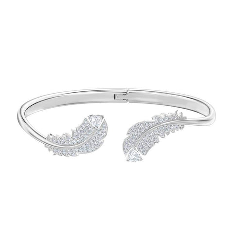 Swarovski Nice Leaf Open Bangle Silver 5482915