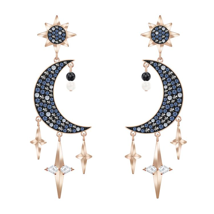 Swarovski Symbolic Moon and Star Earrings 5489536