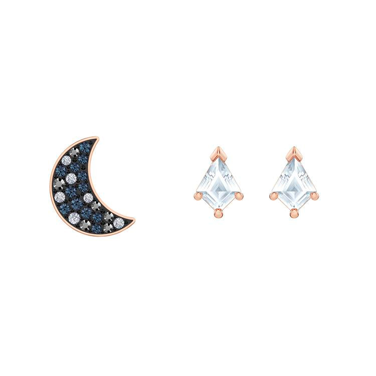 Swarovski Symbolic Moon Stud Earrings Set 5494353