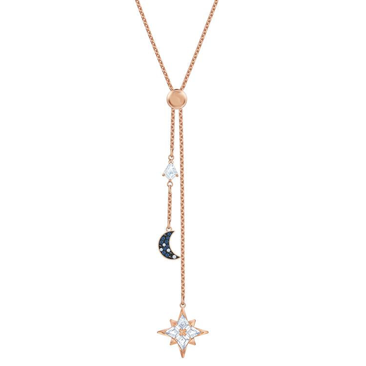 Swarovski Symbolic Star & Moon Y Necklace 5494357