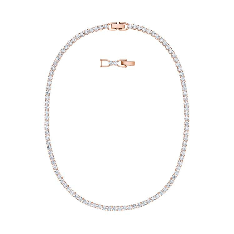 Swarovski Tennis Deluxe Rose Gold Necklace 5494607