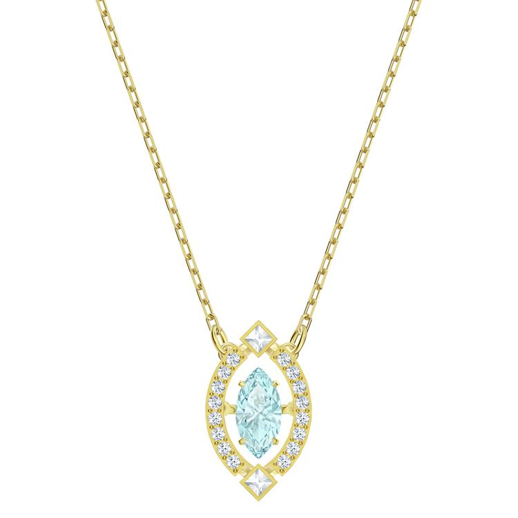 Swarovski Sparkling Light Green Gold Necklace 5497474