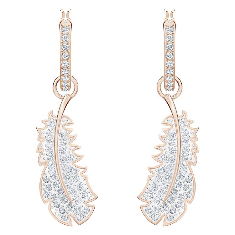 Swarovski Naughty Feather Drop Earrings 5497872