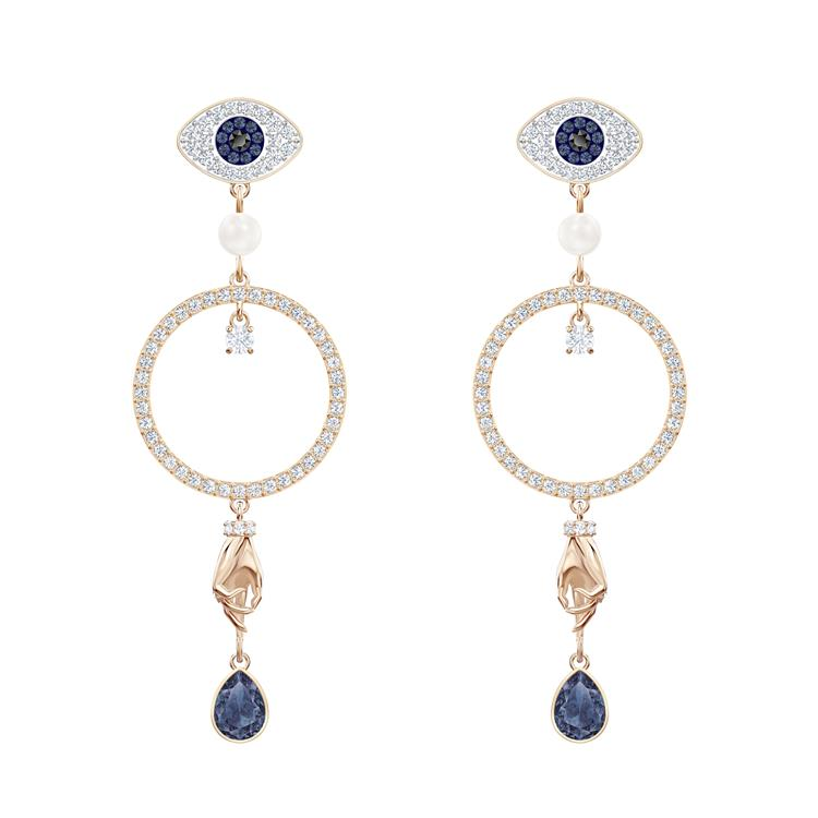 Swarovski Symbolic Evil Eye Long Earrings 5500642