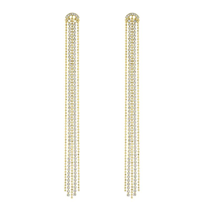 Swarovski Fit Long Tassel Gold Earrings 5490191